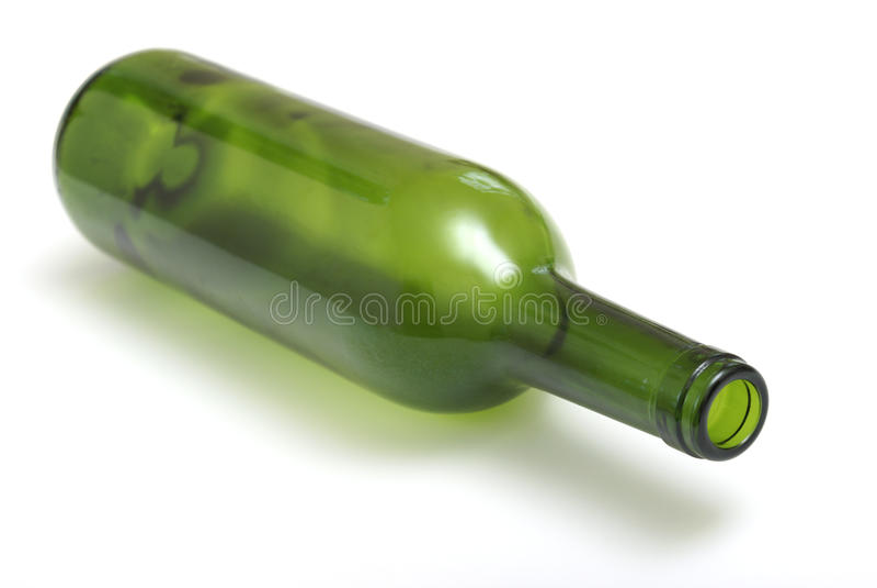 вино бутылки пустое стоковая фотография rf