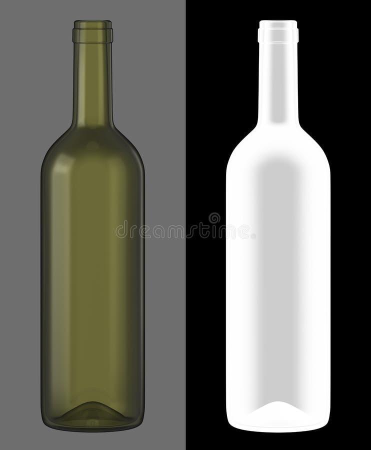 вино бутылочного стекла зеленое иллюстрация штока