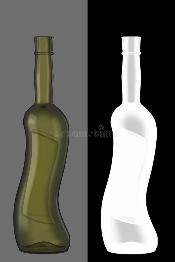 вино бутылочного стекла зеленое бесплатная иллюстрация
