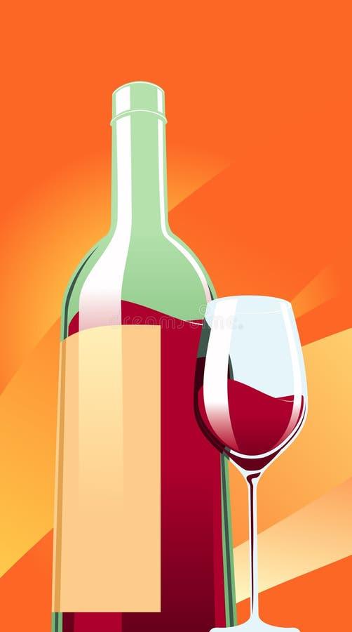 вино бутылочного стекла бесплатная иллюстрация