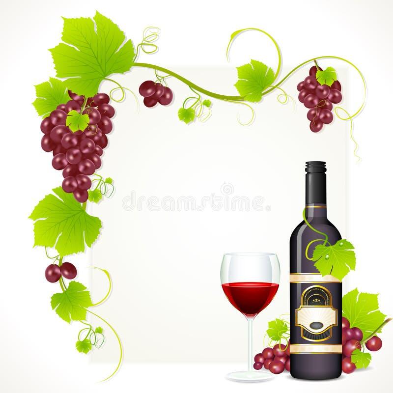 вино бутылочного стекла иллюстрация вектора