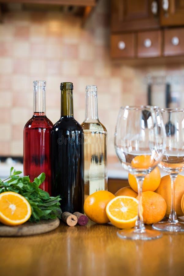 вино бутылок 3 стоковые фото