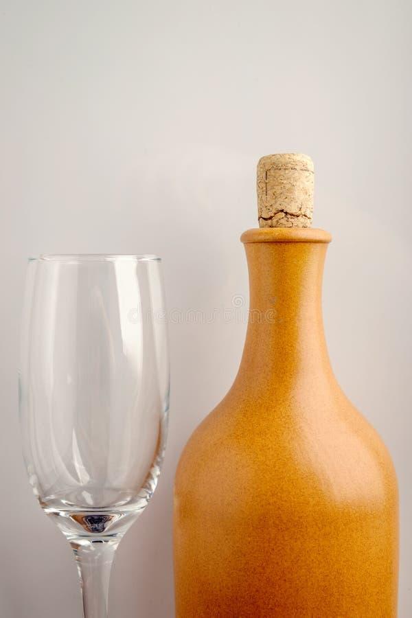 вино бутылочного стекла стоковое изображение rf