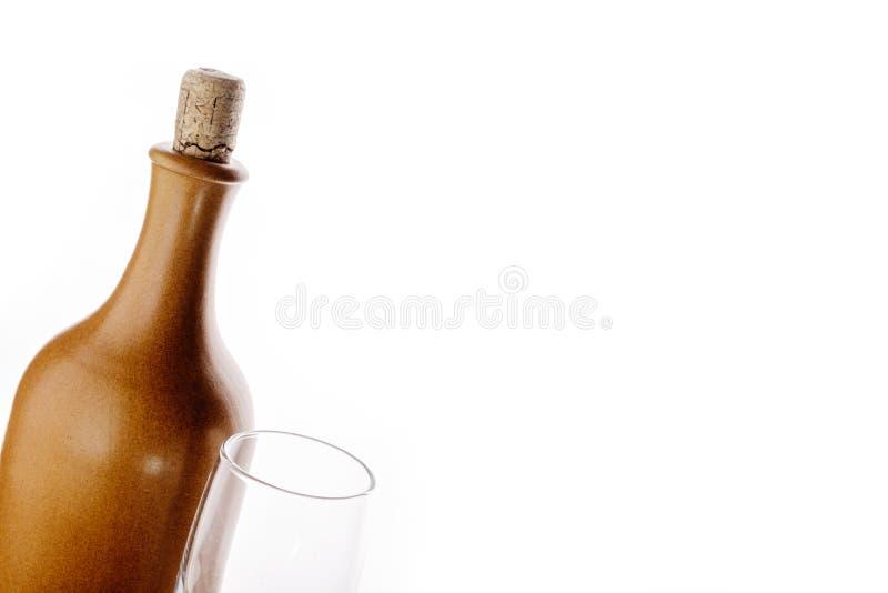 вино бутылочного стекла стоковое фото rf