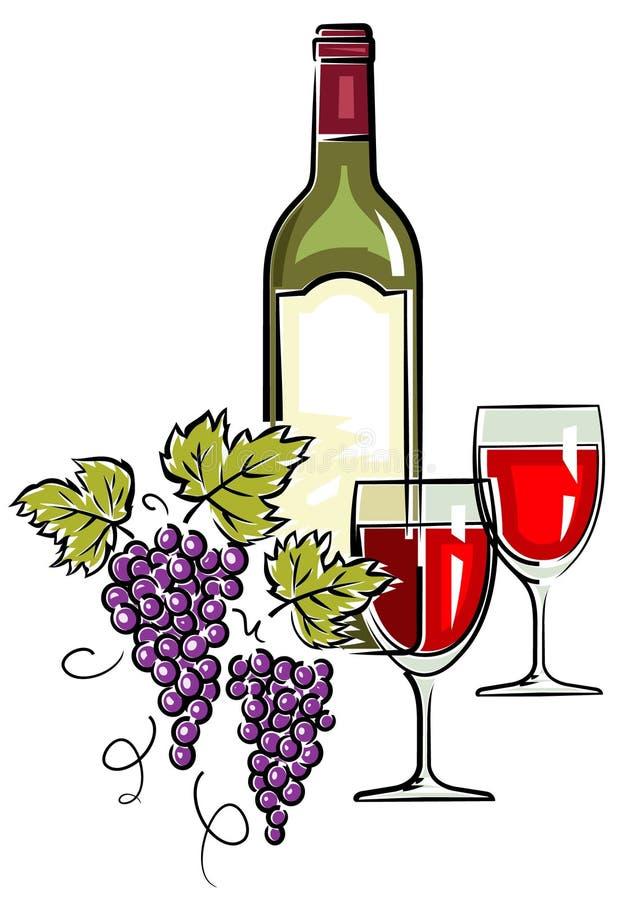 вино вектора иллюстрации иллюстрация вектора