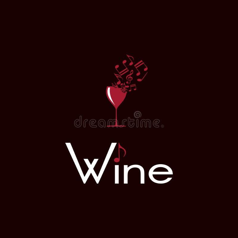 Вино как музыка иллюстрация вектора