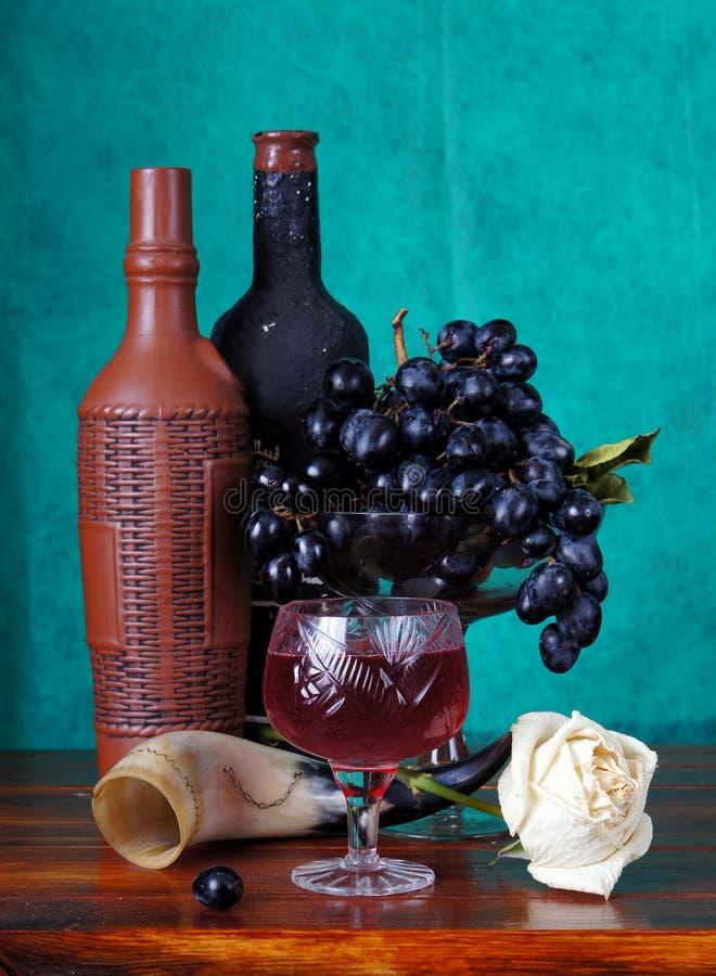 вино классической жизни виноградин неподвижное стоковое фото