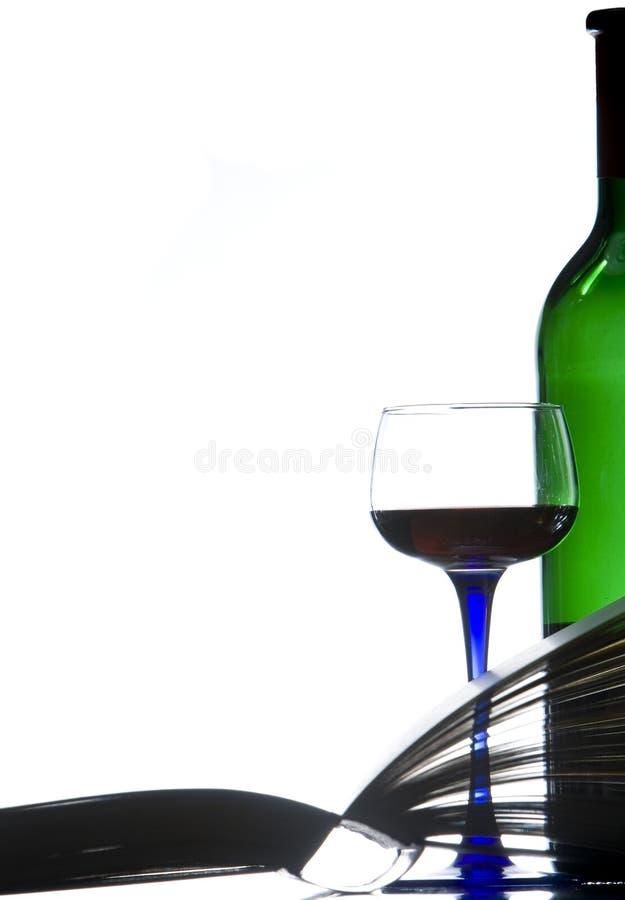 вино книги красное ослабляя стоковые фото