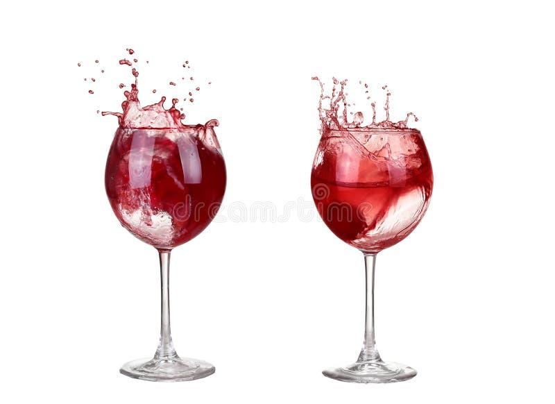 вино коллажа красное лить в изолированный бокал стоковое фото rf