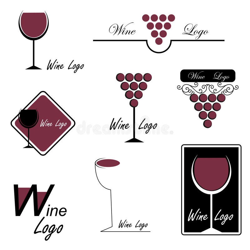 вино логосов иллюстрация вектора
