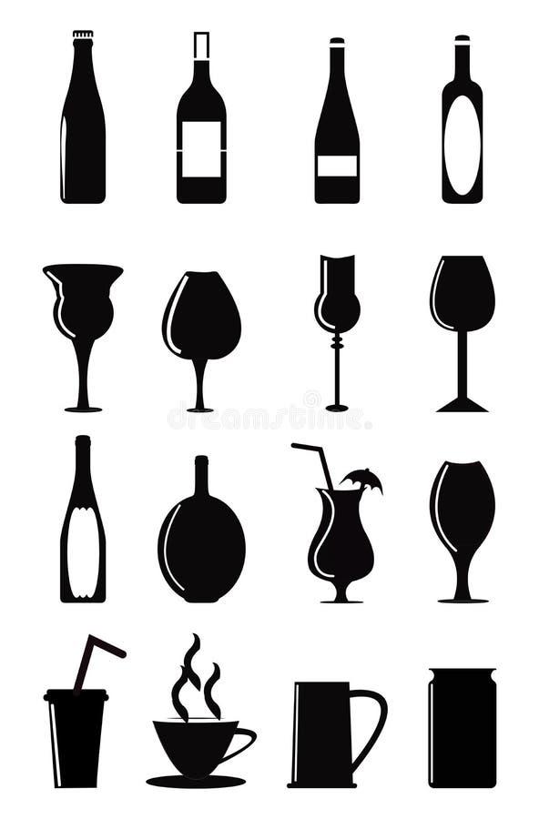 вино обеда пляжа стеклянное бесплатная иллюстрация
