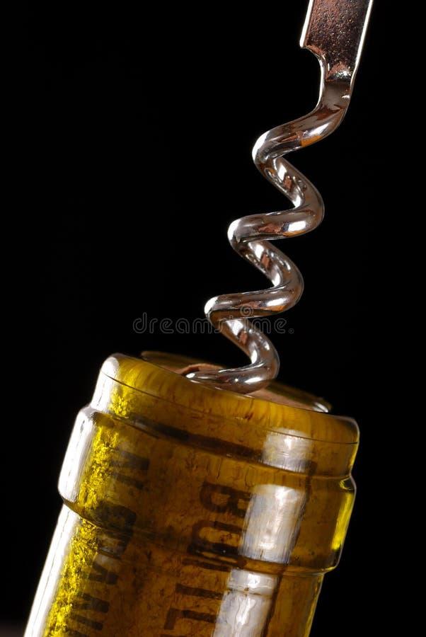 вино отверстия бутылки стоковые фотографии rf