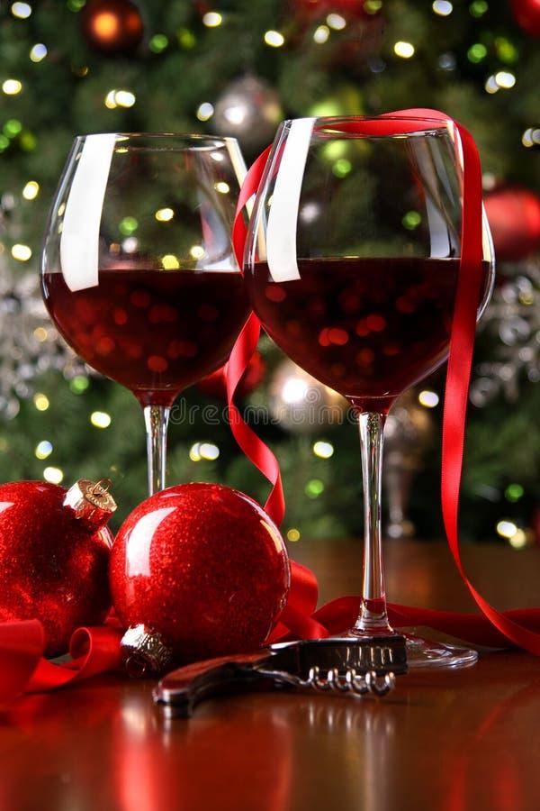 вино праздника стекел предпосылки красное стоковые фотографии rf