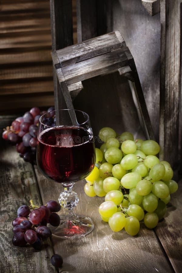 вино руки виноградины покрашенное иллюстрацией стоковая фотография rf