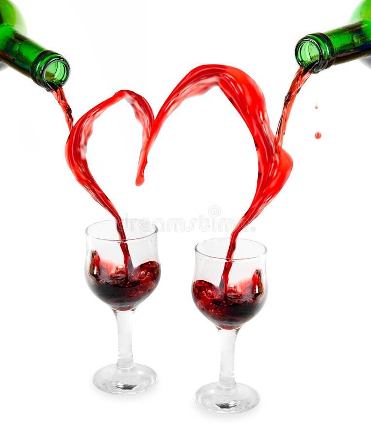 вино сердца красное стоковое фото rf