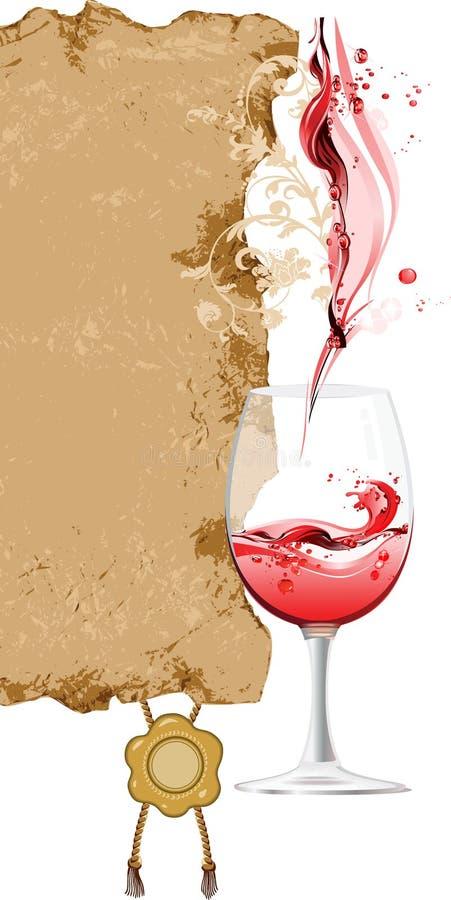 вино списка конструкции иллюстрация вектора