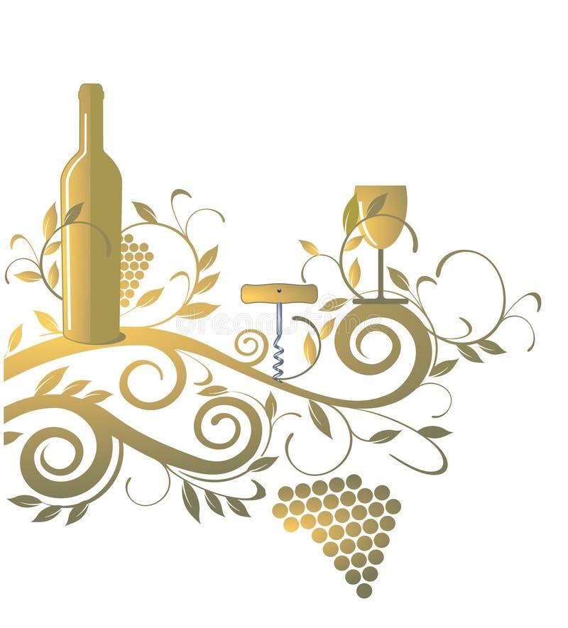 вино списка иллюстрация вектора
