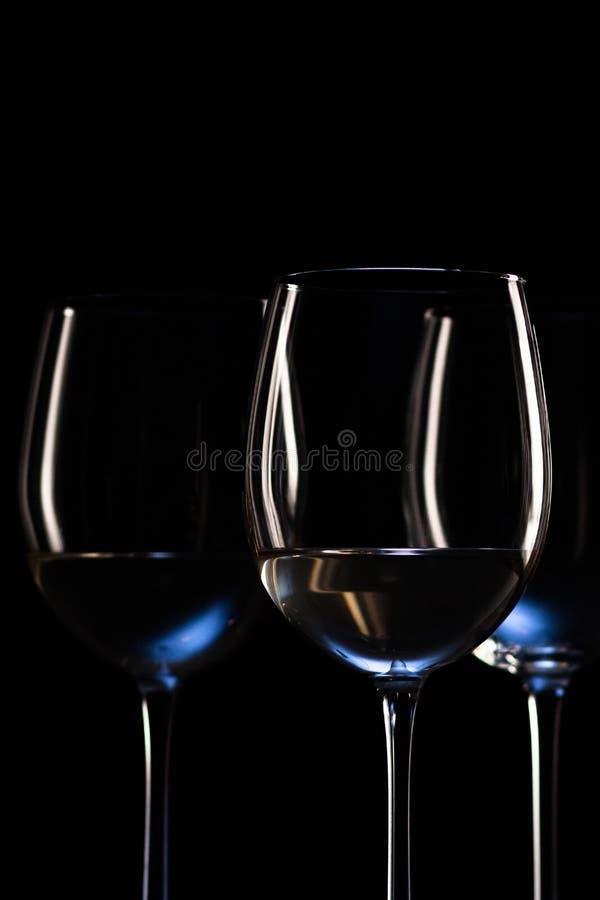 вино стекел белое стоковое фото rf