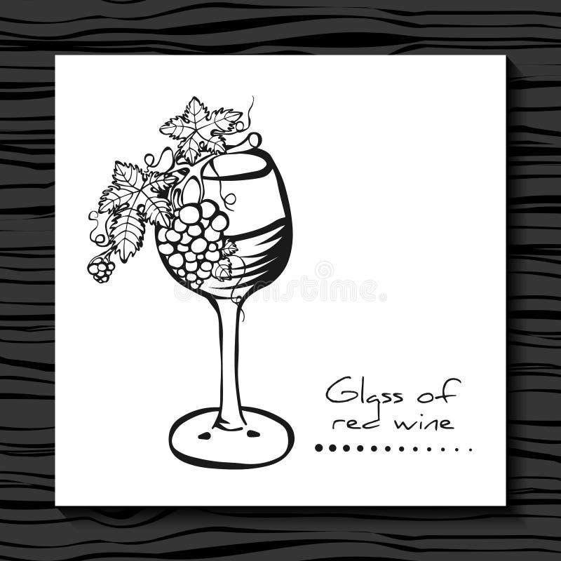 вино стеклянных виноградин красное эскиз grapevine бесплатная иллюстрация
