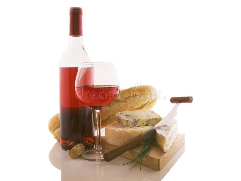 вино сыров бутылки различное добросердечное стоковая фотография rf