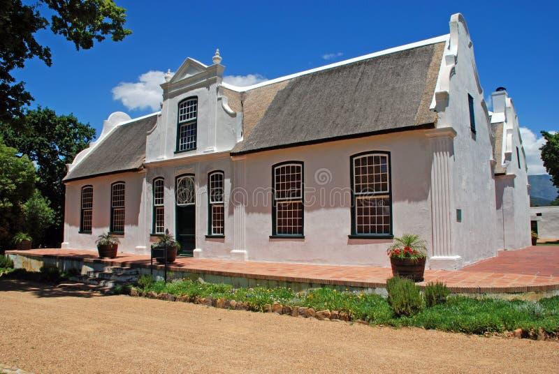 вино типа колониального сельского дома Африки южное стоковое изображение rf