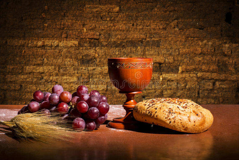 вино хлеба стоковое изображение
