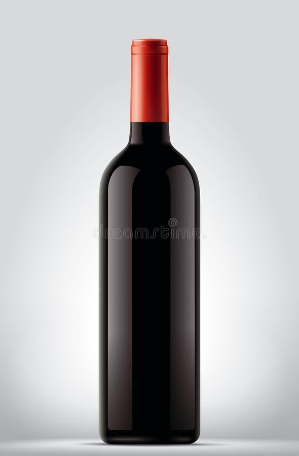 вино шкафа бутылки старое иллюстрация штока
