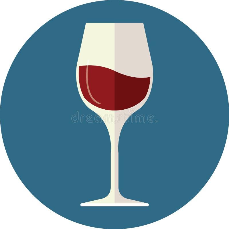 вино штанги спирта стеклянное красное иллюстрация вектора