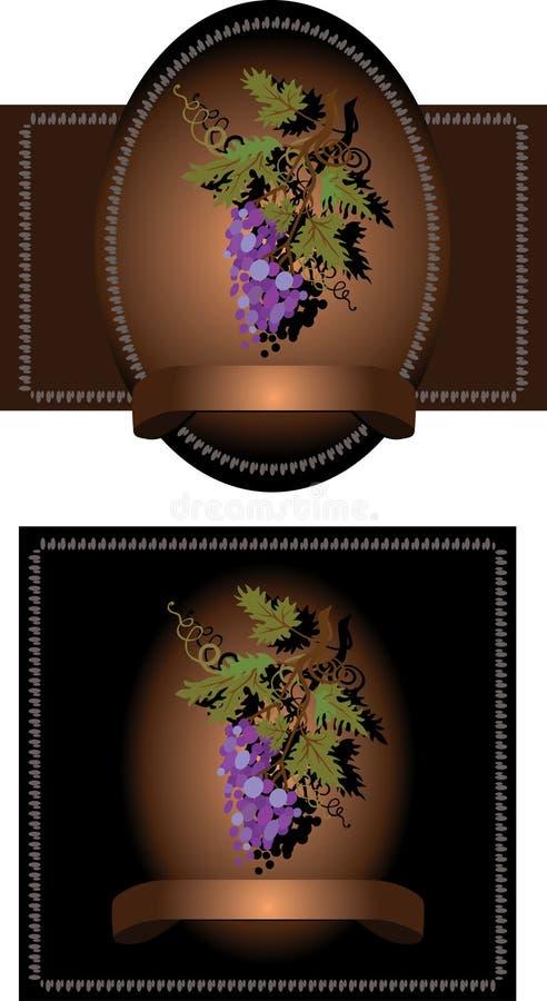 вино ярлыка красное иллюстрация вектора