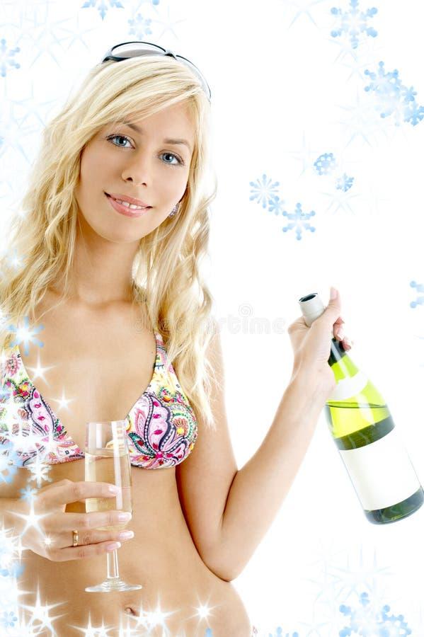 вино 2 снежинок девушки стоковые фото