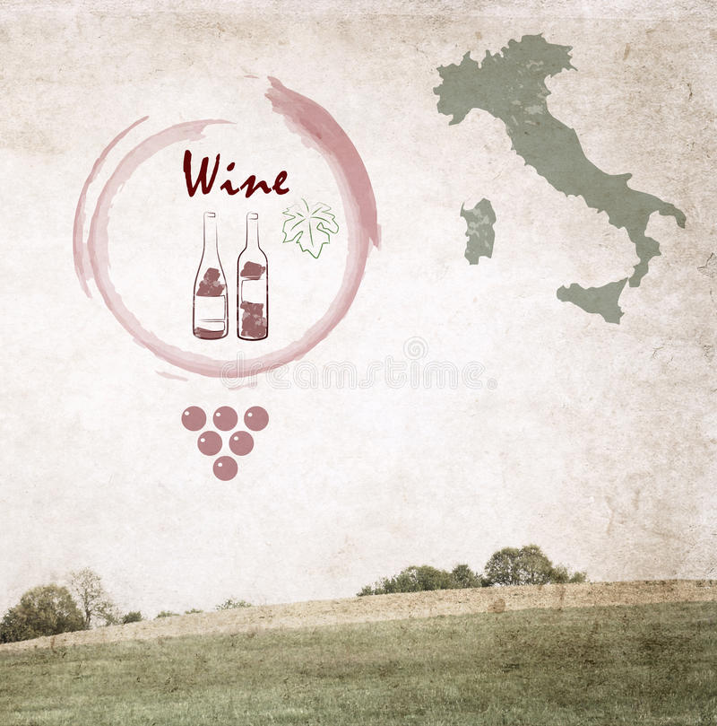 Вино иллюстрация штока