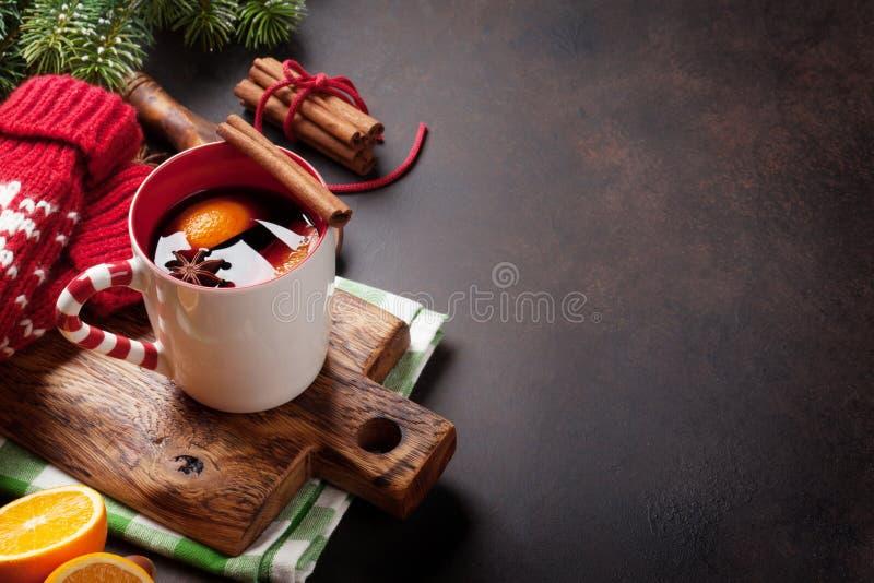 вино mulled рождеством стоковые изображения rf