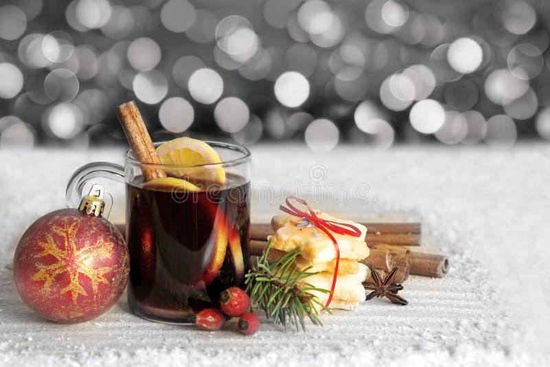 вино mulled рождеством стоковая фотография rf