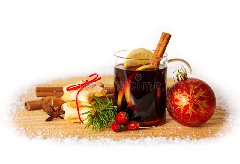 вино mulled рождеством стоковое изображение rf