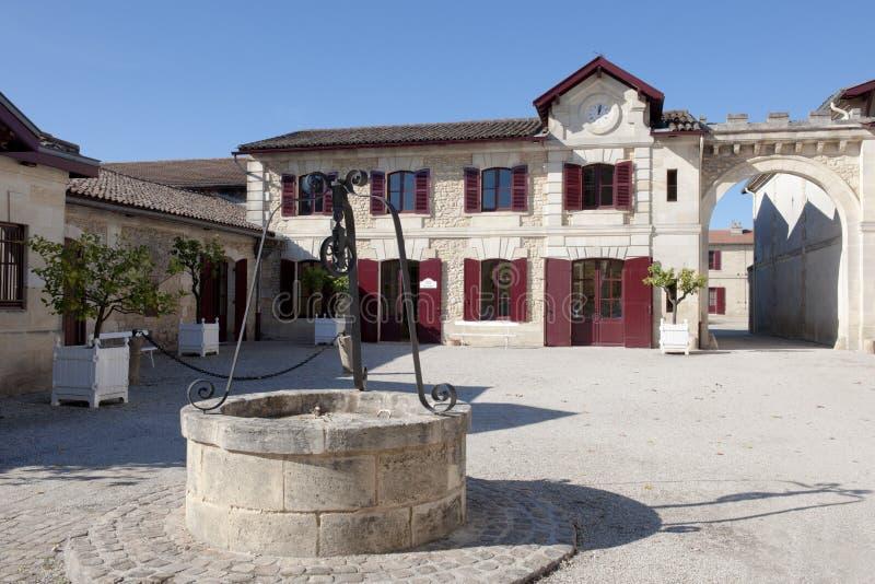 вино pichon longville замка погреба стоковое изображение