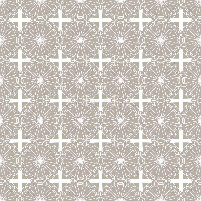 Винтажная абстрактная безшовная картина вектор детального чертежа предпосылки флористический бесплатная иллюстрация