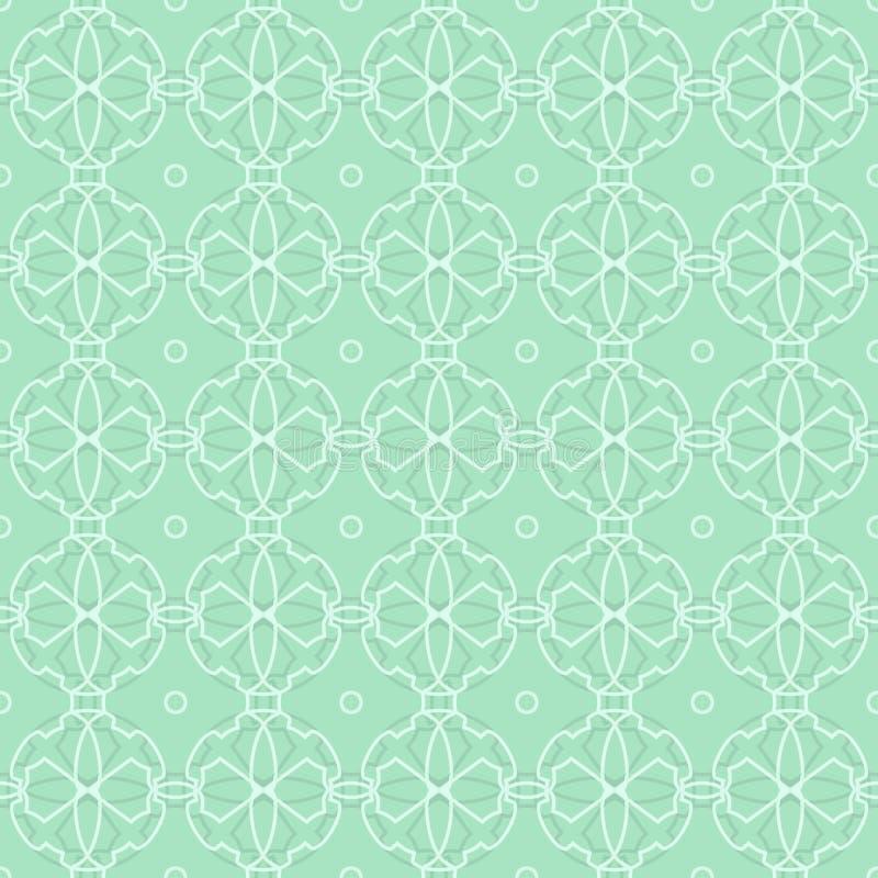Винтажная абстрактная безшовная картина ретро предпосылки зеленое иллюстрация вектора