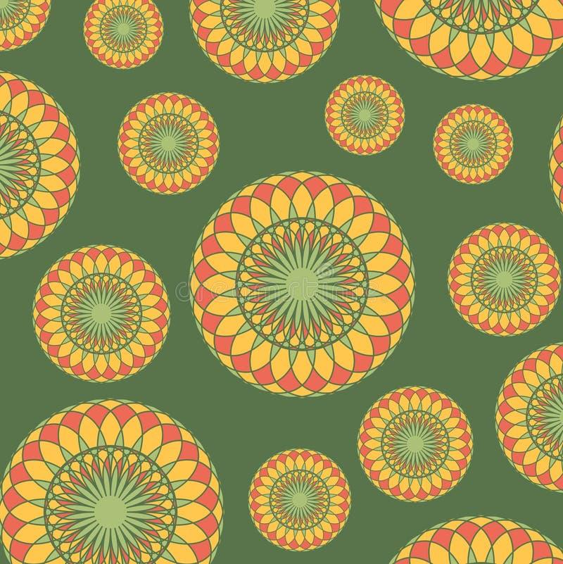 Винтажная абстрактная безшовная картина иллюстрация вектора