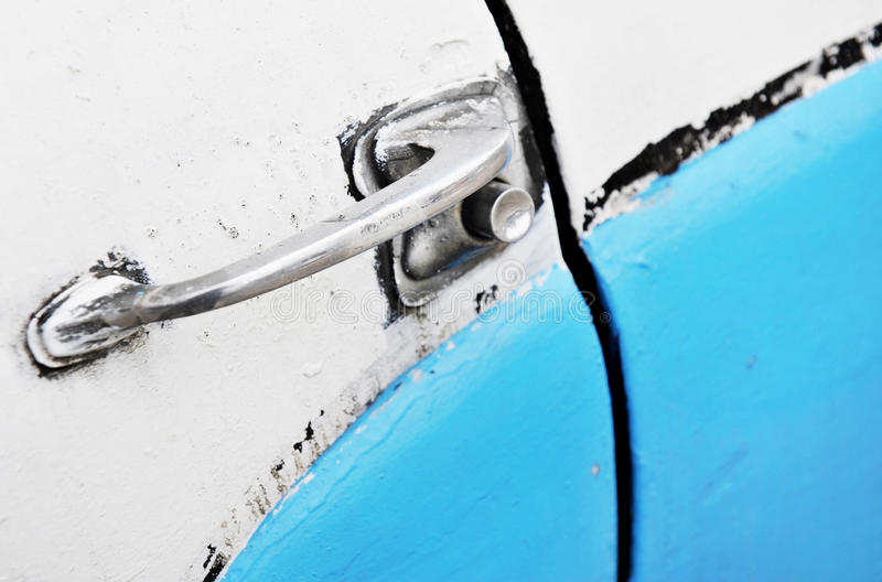 Винтажная автомобильная дверь стоковая фотография rf