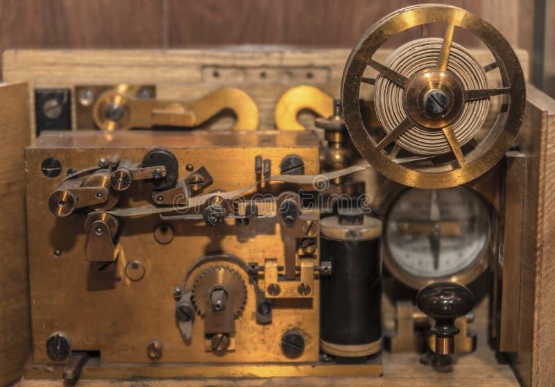 Винтажная азбука Морзе система телеграфа стоковые фото