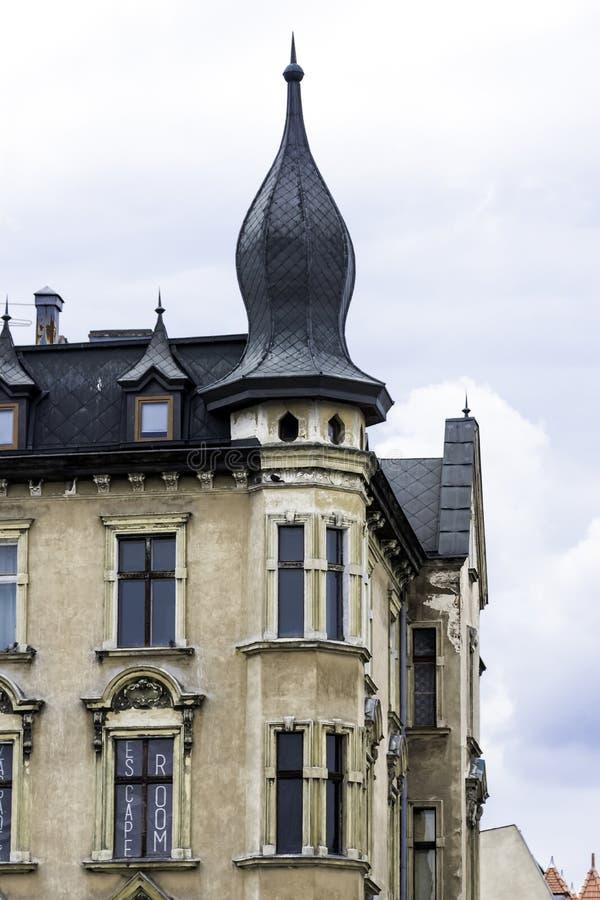 Винтажная архитектура старого городка - Торуна, Польши стоковые фото