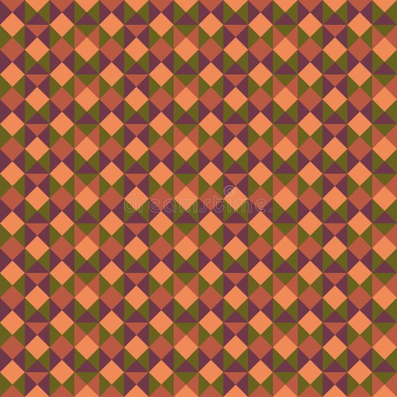 Винтажная безшовная картина иллюстрация вектора