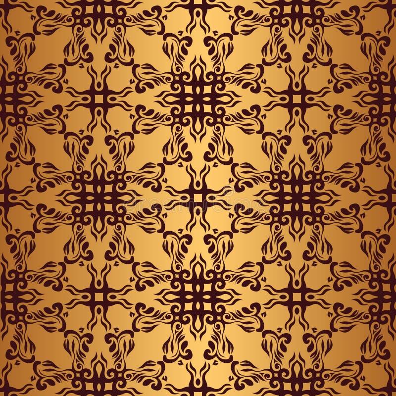 Download Винтажная безшовная картина Иллюстрация вектора - иллюстрации насчитывающей цветасто, флористическо: 33735548