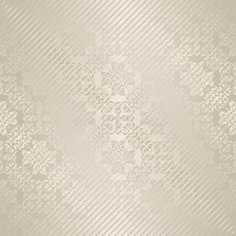 Download Винтажная безшовная предпосылка Иллюстрация вектора - иллюстрации насчитывающей классицистическо, скручиваемость: 33735842
