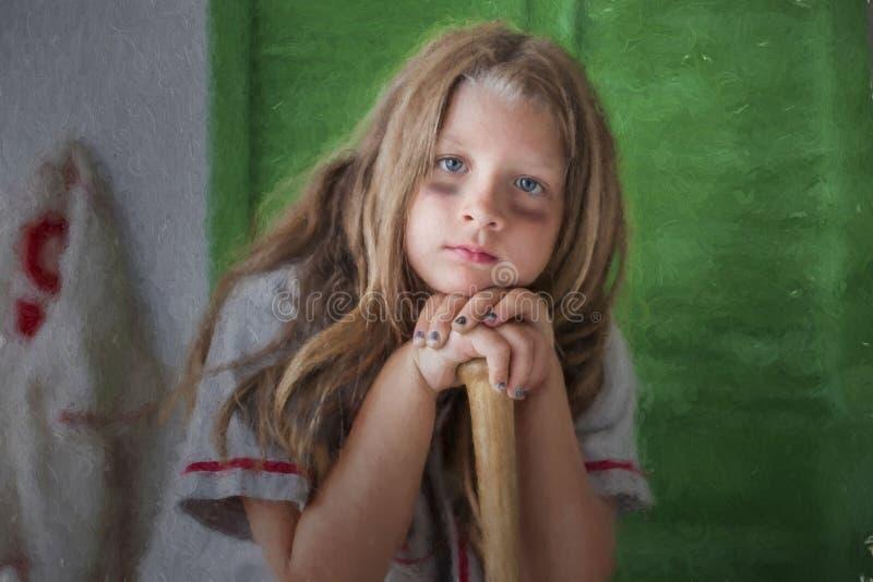 Винтажная бейсбольная девушка стоковое фото