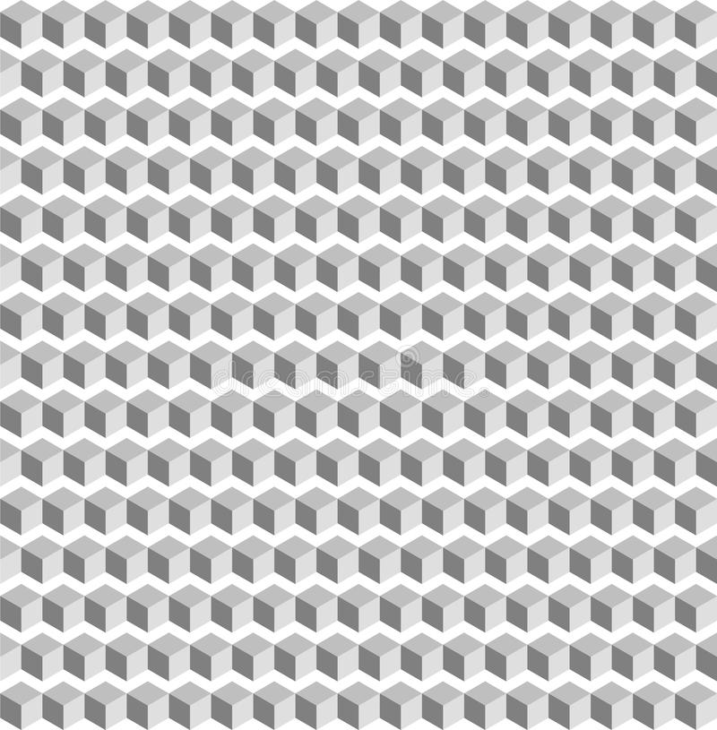 Винтажная белая предпосылка безшовная абстрактная текстура белого квадрата geometic иллюстрация вектора