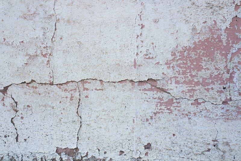 Винтажная белая и розовая стена стоковое фото rf