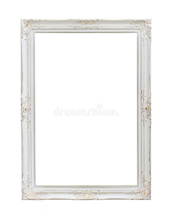 Винтажная белая рамка фото стоковая фотография