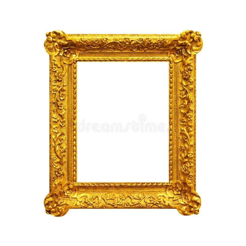 Винтажная богато украшенная рамка изолированная на белизне стоковая фотография