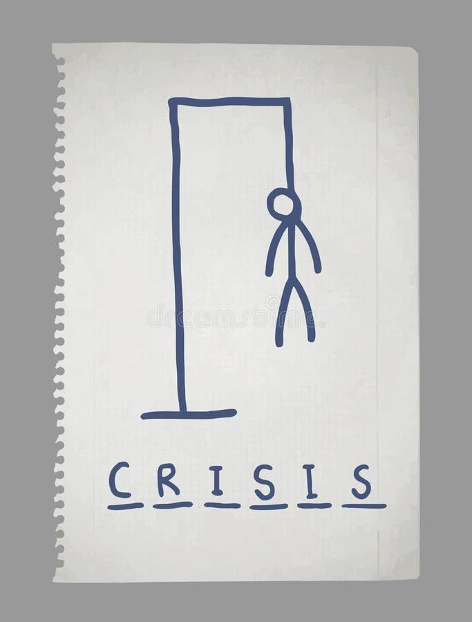 Винтажная бумага кризиса иллюстрация вектора